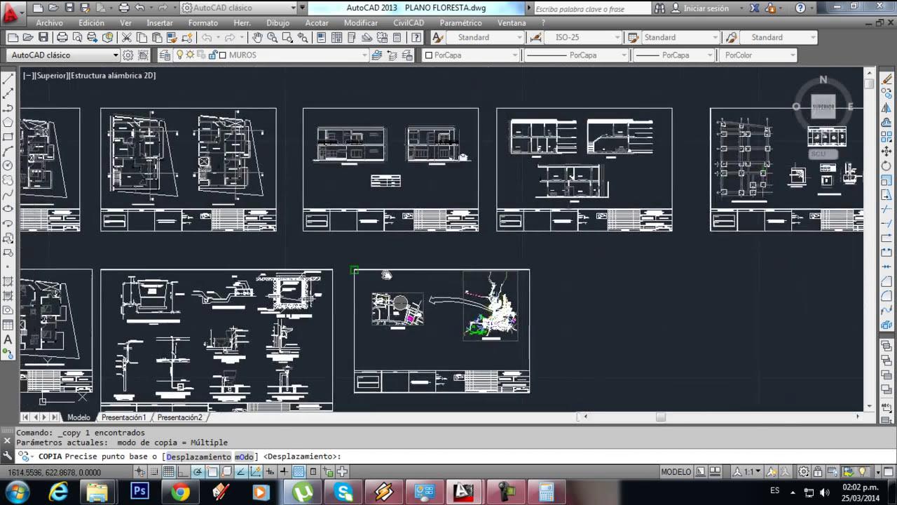 Tutorial autocad como hacer un plano casa de dos plantas - Hacer un plano de casa ...
