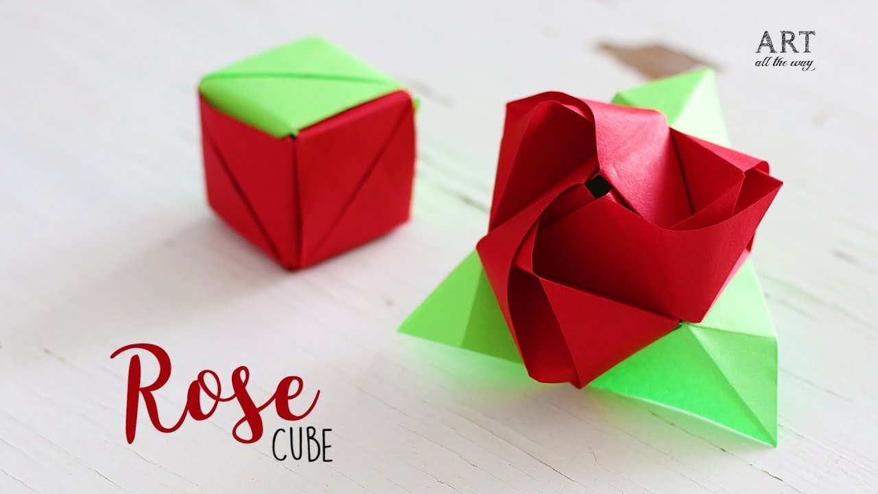 Diy Magic Rose Cube Paper Craft Ideas Origami Rose Youtube