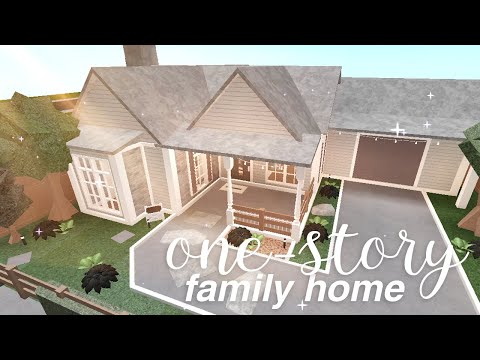bloxburg:-one-story-family-home-|-house-build