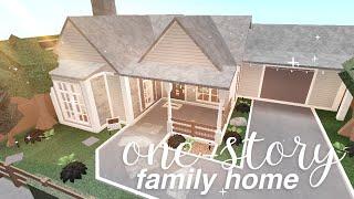Bloxburg: One-story Family Home | House Build