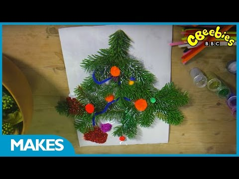 CBeebies: Down On The Farm - Make a Christmas tree picture