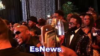 Adrien Broner, Robert Easter Jr The Game Justin Bieber Bobby Brown At Mayweather Birthday