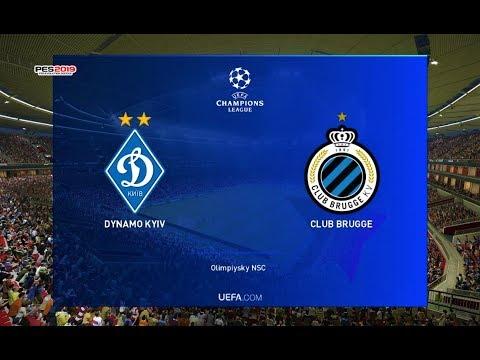 PES 2019   Dynamo Kyiv Vs Brugge   UEFA Champions League