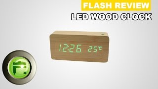 Review Usb Led Wood Clock Digital Indonesia By Flashgadgetstore