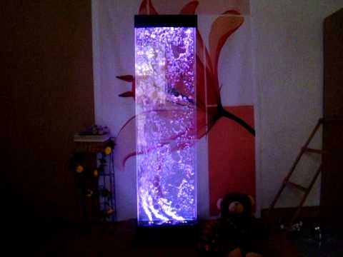 how to set up top fin led bubble wall instructions