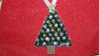 Recycled Bubble Wrap Christmas Tree Ornament
