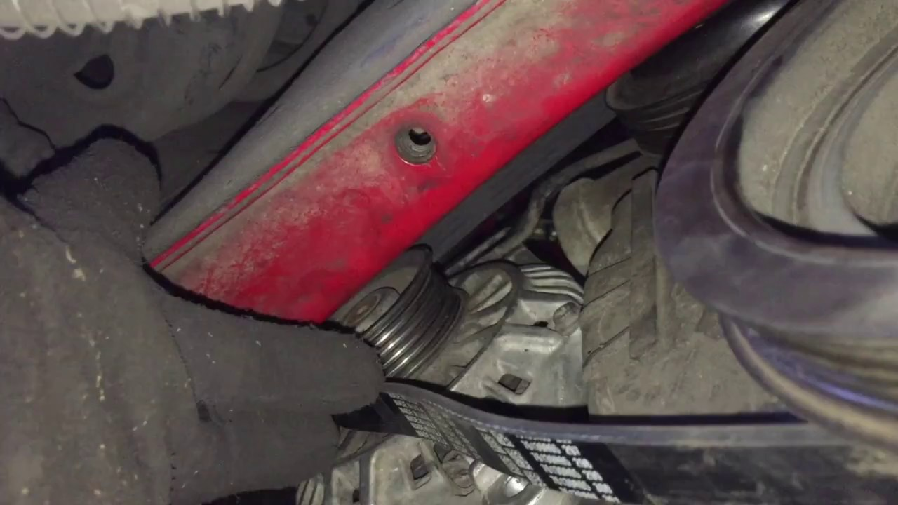 2002 mitsubishi eclipse rs 2.4l belt replacement (drive belt and