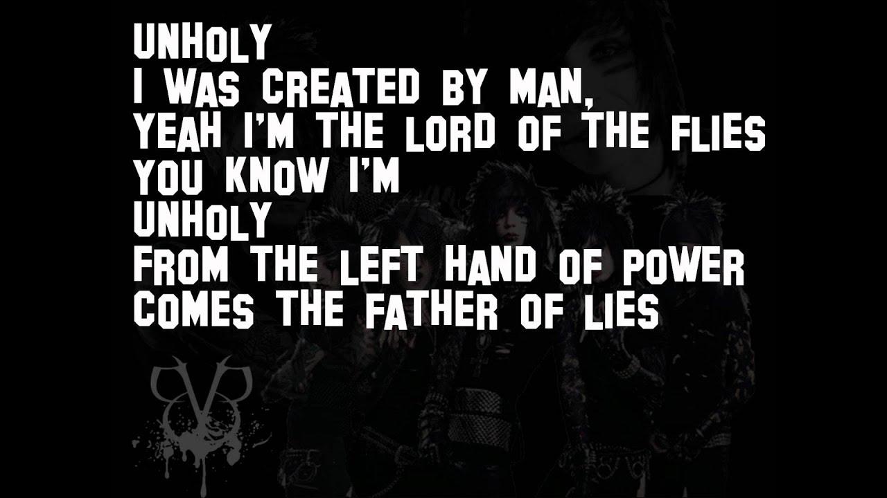 Unholy-Black Veil Brides (lyrics) - YouTube