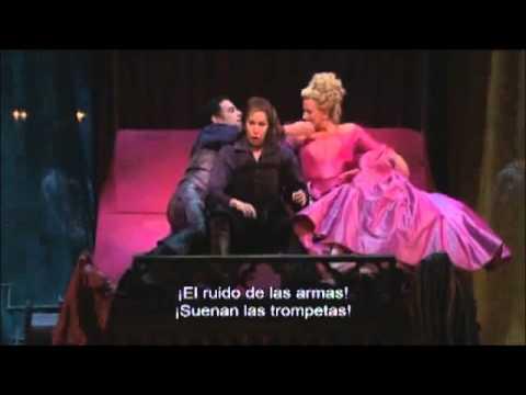 """Le Comte Ory. TRIO """"J'entends d'ici le bruit des armes"""" (Sub. Español) Flórez, Damrau, DiDonato"""