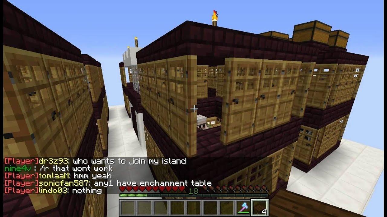 Minecraft Villager Breeding Spawner Tutorial, Skyblock, Unlimited