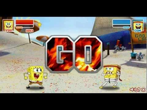 Super Brawl 2 Spongebob VS Classic Spongebob
