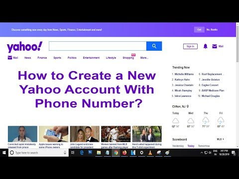 How To Create A New Yahoo Account | Sign Up For Yahoo Account Using Phone Number