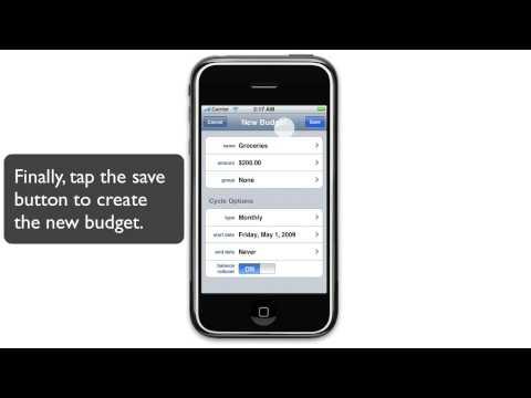 Spend (iPhone App) - Adding a Budget