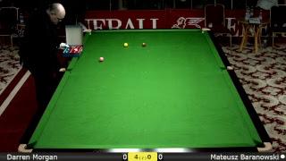 Snooker Men Last 32 : Darren Morgan vs Mateusz Baranowski