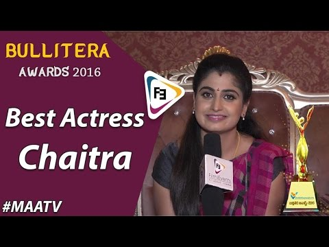 Bullitera Awards 2016 | Best Actress | Maa TV | Chaitra | Astachemma| FilmiEvents.com