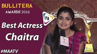 Bullitera Awards 2016 | Best Actress | Maa TV | Chaitra | Astachemma| FilmiEvents.com