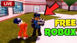 🔴 ROBUX GIVEAWAY!! | ARRESTING STREAM SNIPERS! | Roblox Jailbreak, Mad City, Prison Life | Live Now