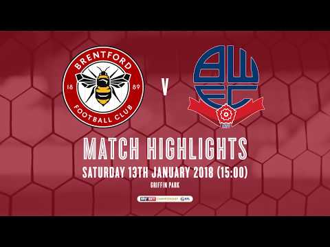 2017/18 HIGHLIGHTS: Brentford 2-0 Bolton Wanderers