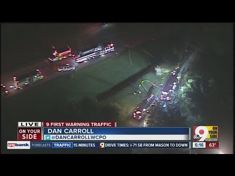 Aerial look at Monroe house fire