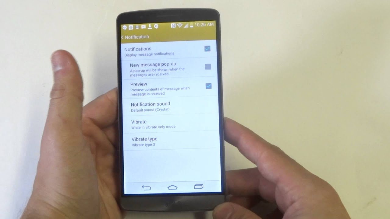LG G3: Enabling and Disabling Text Message Notification Popups -  Fliptroniks com