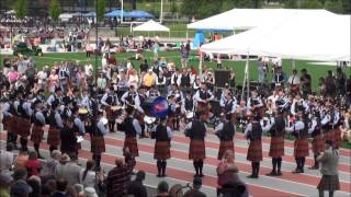 Simon Fraser University Pipe Band - BC Highland Games 2013 - Medley
