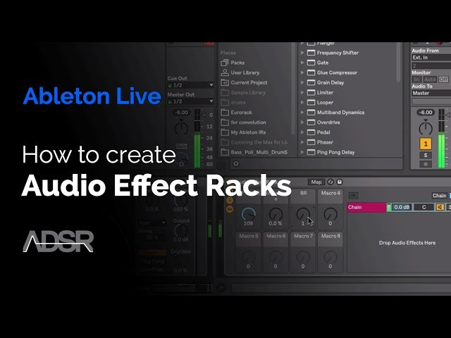 Creating a Audio Effect Rack in Ableton Live
