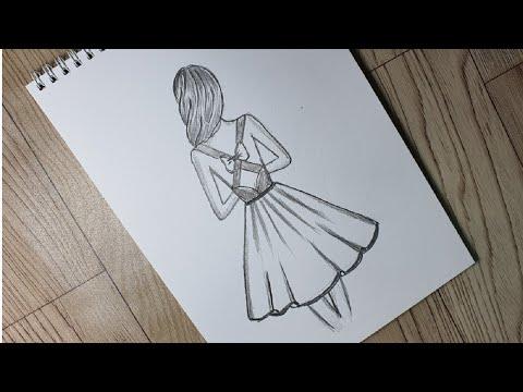 Cách Vẽ Cô Gái cực dễ bằng bút chì #23  How To Draw a girl very easy with pencil  Kim Chi Art & Draw