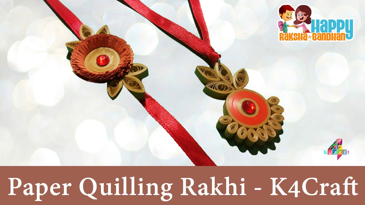 Craft Paper Making Rakhi