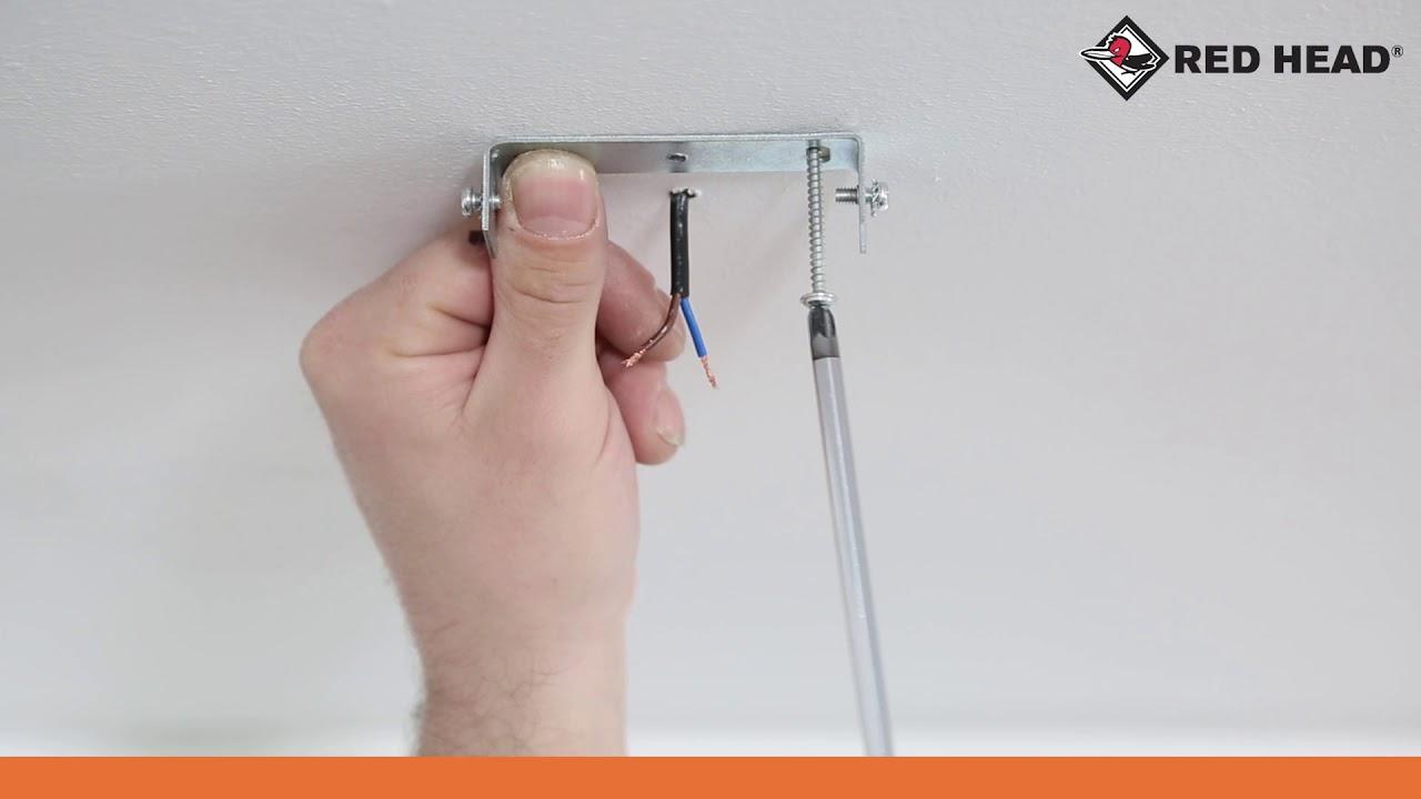 Atelier N180 Fixer Un Plafonnier Dans Un Matériau Plein