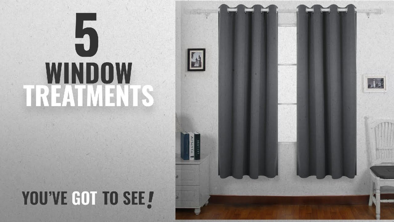 Top 10 Window Treatments 2018 Deconovo Super Soft Treatment Thermal Insulated Room
