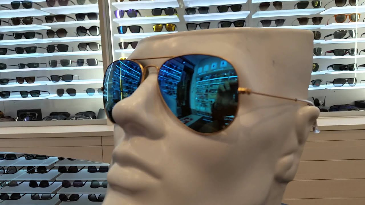 Ray Ban Aviator Specchio Blu