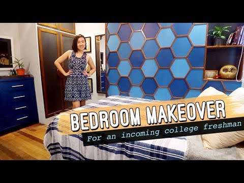50k Php Bedroom Makeover // College Teen Boy's Bedroom // by Elle Uy
