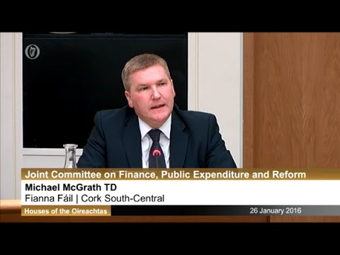 Michael McGrath questions new Central Bank Governor Philip Lane