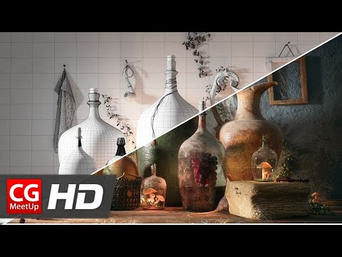 "CGI 3D Breakdown ""Making of Bottles of life"" by Farid Ghanbari 
