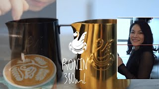 Ronin 380ml, JIBBIJUG Best drawing latteart patterns in small cup size 3-8 oz