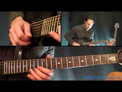 Master of Puppets Guitar Lesson Pt3  Metallica  Harmony Solo