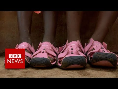 Growing feet? Try expandable shoes - BBC News