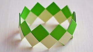 Оригами браслет из бумаги | Как сделать оригами браслет за 5 минут. Origami bracelet