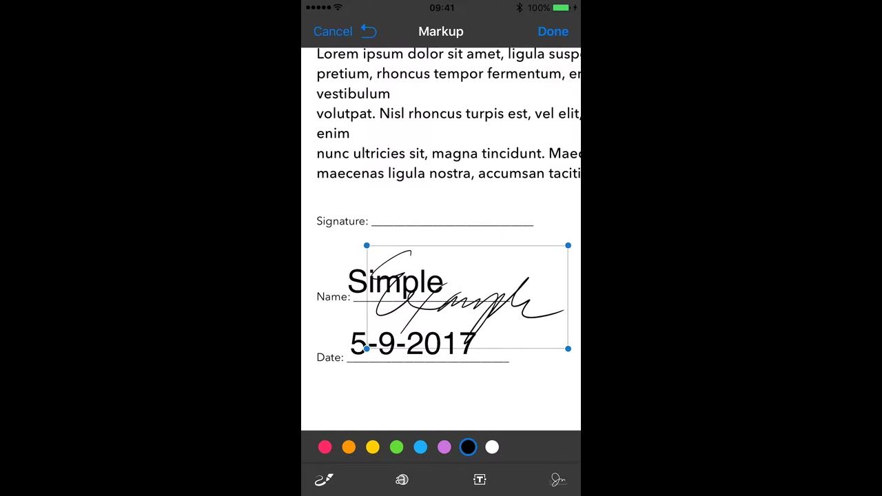 sign a pdf on iphone signing and annotating a pdf with iphone mail app for free 18009
