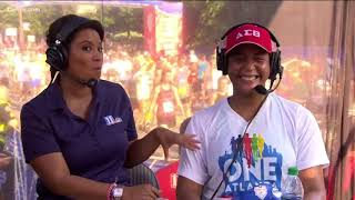 'This is for all the grown women over 40' Atlanta Mayor Keisha Lance Bottoms after finishing the AJC
