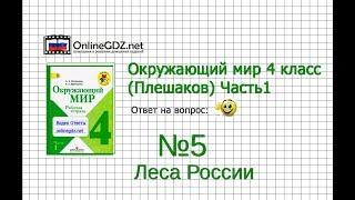 Задание 5 Леса России - Окружающий мир 4 класс (Плешаков А.А.) 1 часть