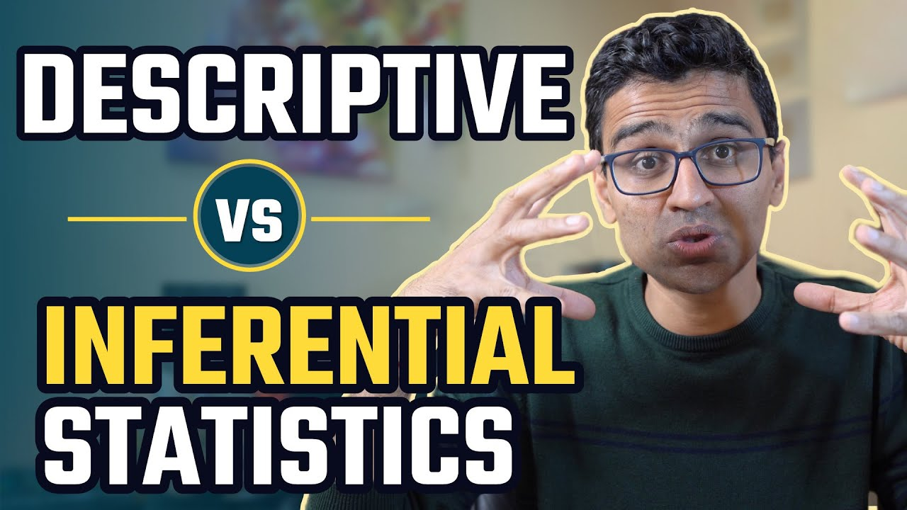 Descriptive Vs inferential Statistics   Math, Statistics for Data Science, Machine Learning
