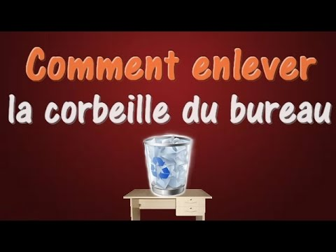 fr comment enlever la corbeille du bureau tuto pc youtube. Black Bedroom Furniture Sets. Home Design Ideas