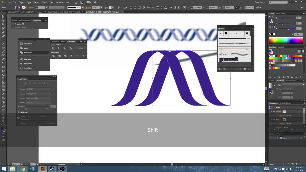 Create a DNA Pattern Brush with Primitive Shapes