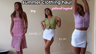 TRENDY *PINTEREST* SUMMER CLOTHING HAUL 2021