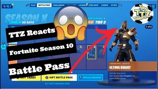 TTZ réagit à Fortnite Saison 10 Battle Pass