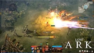 Lost Ark Online - The Frist CBT Warlord Train Level Skills Test