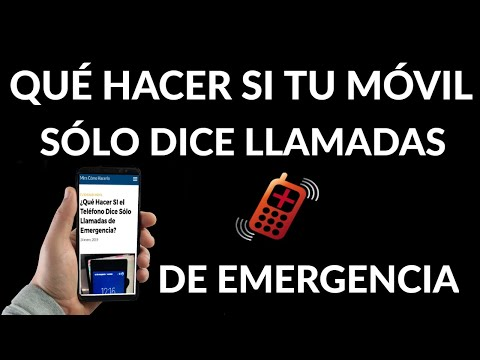 Qué Hacer SI tu Móvil Dice Sólo Llamadas de Emergencia | Solución