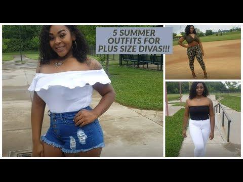 Summer Lookbook Plus Size/Curvy Girl ll Kahleia E'Loria. http://bit.ly/2Xc4EMY
