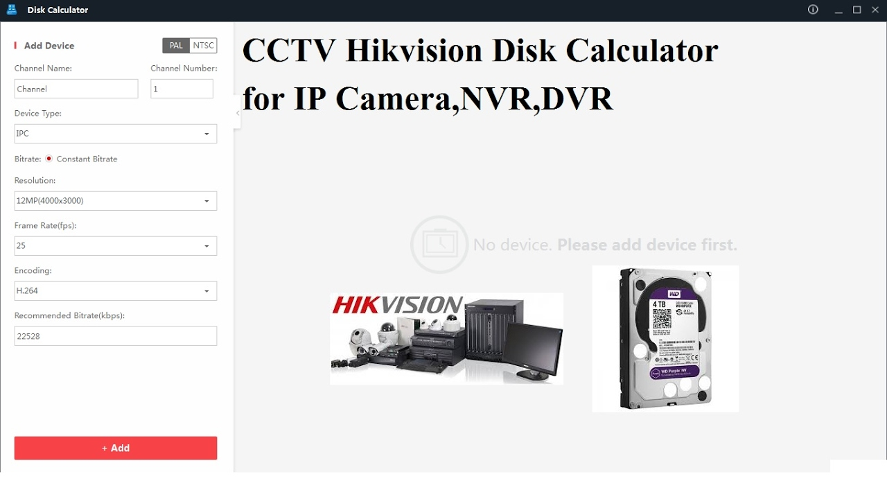 Hikvision HDD Calculator tool for IP Camera,DVR & NVR Installation and  Configuration Step by Step